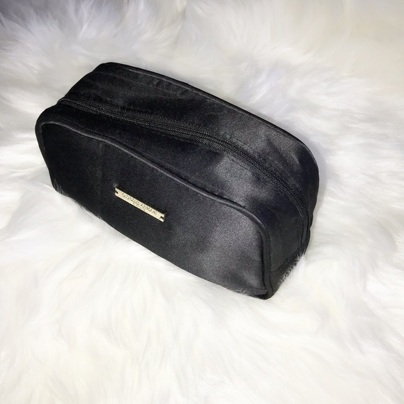Giorgio Armani Handbags - Giorgio Armani black satin cosmetic makeup bag